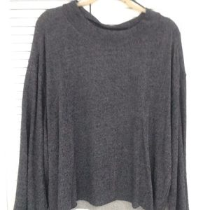 Vince Camuto Navy top with bell sleeves